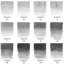 RAYART - Studio Collection 12 crayons Graphite - Winsor & Newton