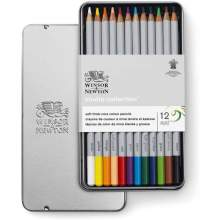 RAYART - Studio Collection 12 crayons de couleur - Winsor & Newton