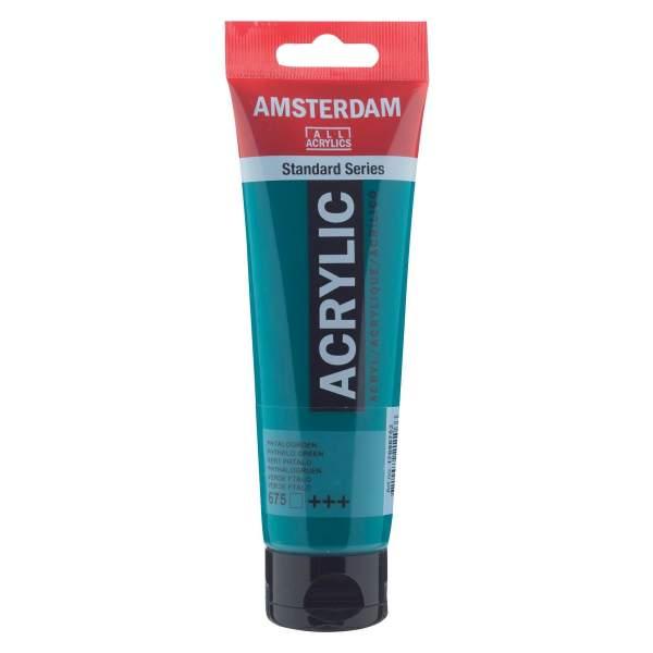 RAYART - Amsterdam Standard Series Acrylique Tube 120 ml Vert de phtalo 675