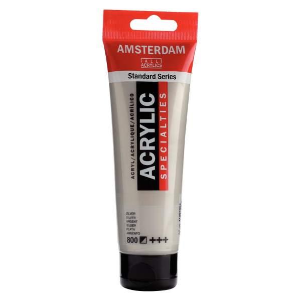 RAYART - Amsterdam Standard Series Acrylique Tube 120 ml Argent 800