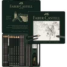 RAYART - Ensemble Pitt Graphite, boîte de 19 - Faber Castell
