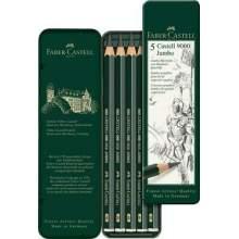 RAYART - Crayon graphite Castell 9000 Jumbo boîte de 5 - Faber Castell