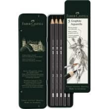 RAYART - Crayon aquarelle graphite boîte de 5 - Faber Castell