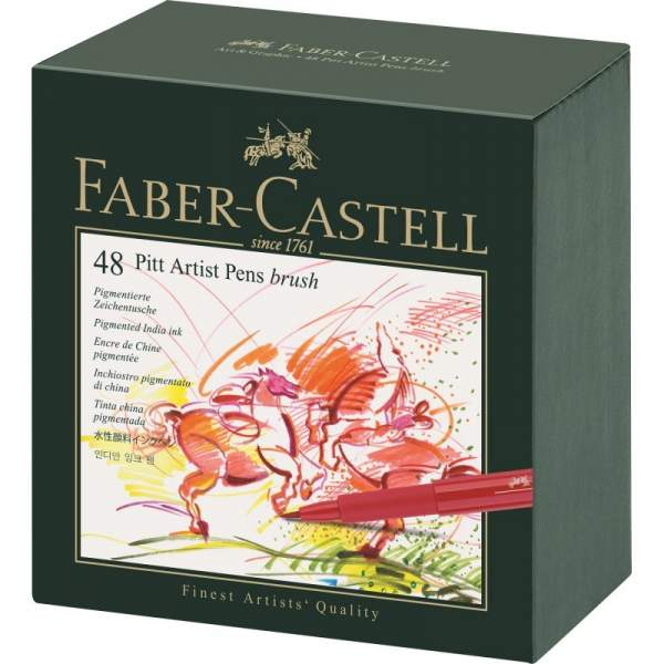 RAYART - Boite De Feutres de 48 Pitt Artist Pen - Faber castell