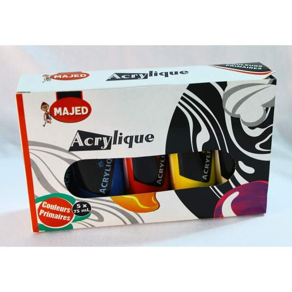 RAYART - Coffret acrylique 5*75 ML
