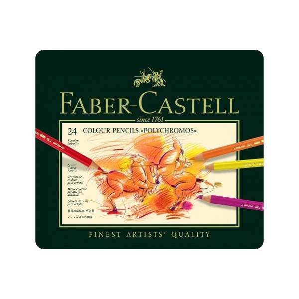 RAYART - Crayon de couleur Polychromos, boîte de 24 - Faber Castell