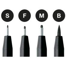 RAYART - Pochette 4 Feutres Pitt Artist Pens black  Faber Castell