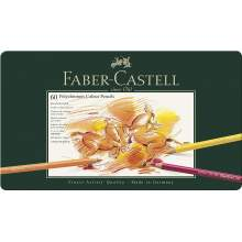 RAYART - Crayon de Couleur Polychromos, boîte Métal de 60 - Faber Castell
