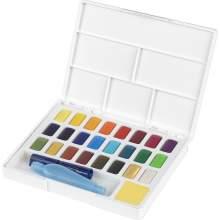 RAYART - Aquarelles en godets, boîte de 24 Faber Castell