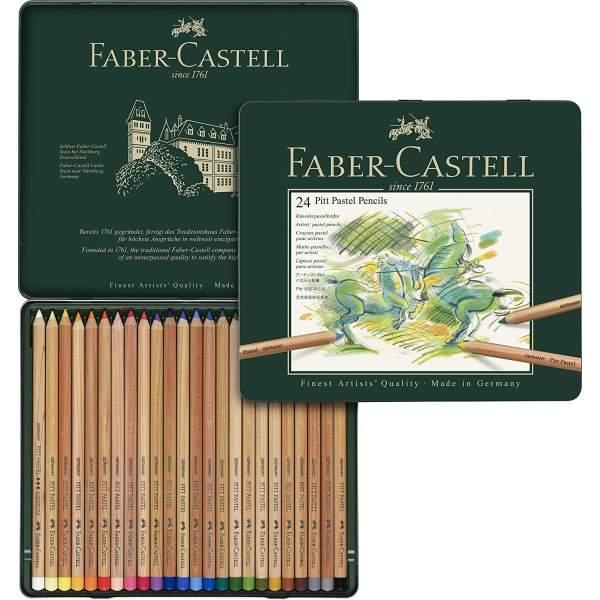 RAYART - Crayon Pitt Pastel boîte métal de 24  Faber Castell