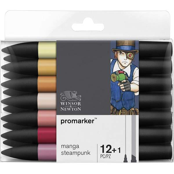 RAYART - Promarker Set 12+1 Manga Steampunk