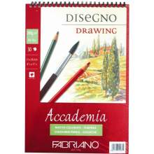 RAYART - blocs papier dessin accademia spirale 30 feuilles 200G/M² - Fabriano