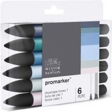 RAYART - Set de 6 Promarker Tons de ciel 1 - Winsor & Newton