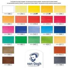 RAYART - Aquarelle 24 couleurs en godets, boîte en plastique Van Gogh